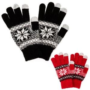gants-tactiles-flocons-de-neige